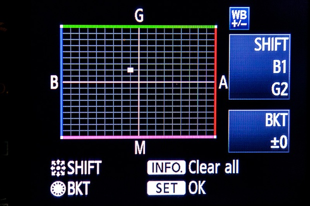 WB Shift on a Canon EOS5D MkII