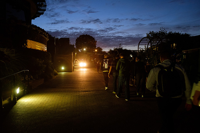 Members of the AELTC Photography team heading home after another log day. AELTC/Neil Turner